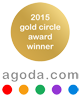 2015 Agoda gold circle award winner